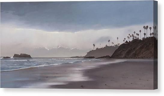 Main Beach Reflections Canvas Print