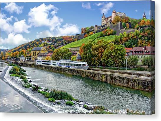 Main River Panorama Canvas Print