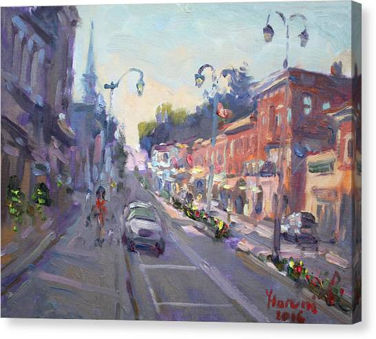 Georgetown University Canvas Print - Main St Georgetown Downtown  by Ylli Haruni
