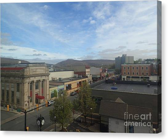 Main St To The Mountains   Canvas Print