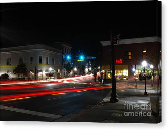 Virginia Polytechnic Institute And State University Virginia Tech Canvas Print - Main Street 1 by Clark DeHart