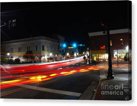 Virginia Polytechnic Institute And State University Virginia Tech Canvas Print - Main Street 2 by Clark DeHart