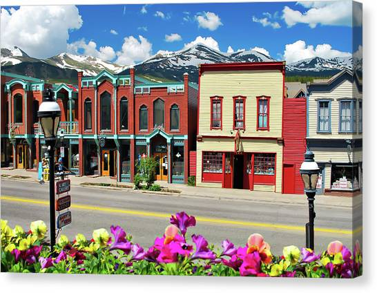Main Street - Breckenridge Colorado Canvas Print
