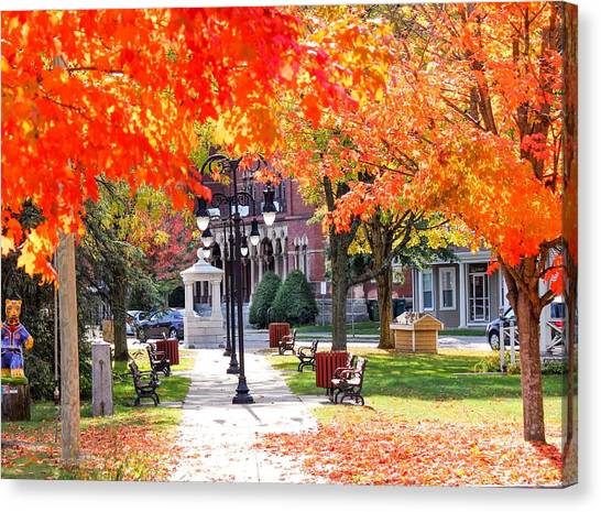 Main Street In The Fall Canvas Print