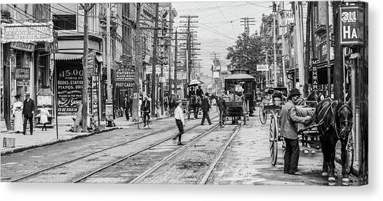 Main Street, Poughkeepsie, 1906 Canvas Print by The Hudson Valley