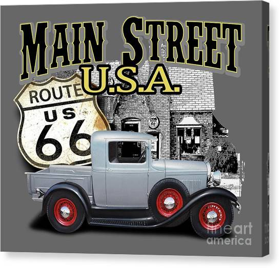 Rusty Truck Canvas Print - Main Street Rod by Paul Kuras