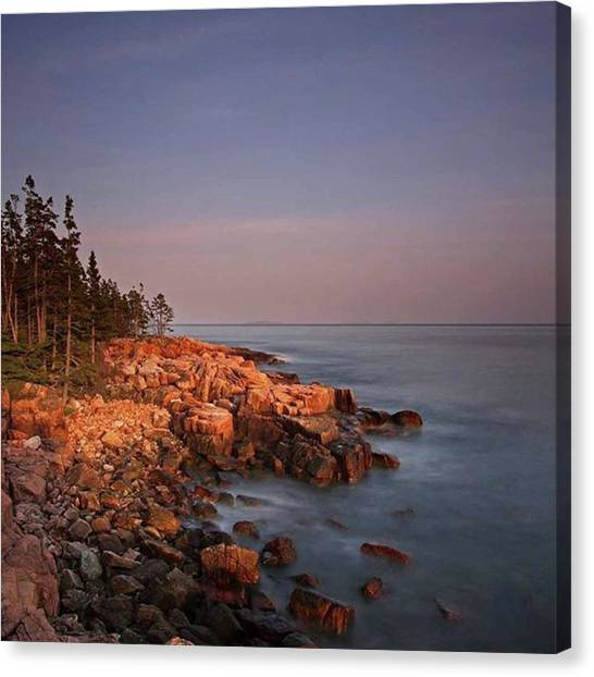 Lighthouses Canvas Print - Maine Acadia National Park First Light by Juergen Roth