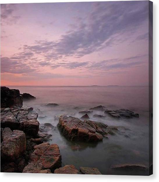 Lighthouses Canvas Print - Maine Acadia National Park Seawall by Juergen Roth