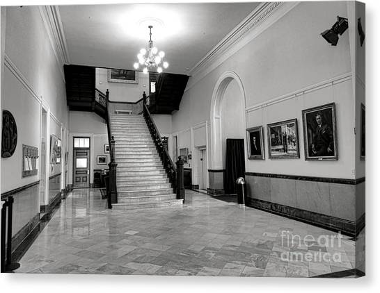 Capitol Building Canvas Print - Maine Capitol West Wing by Olivier Le Queinec