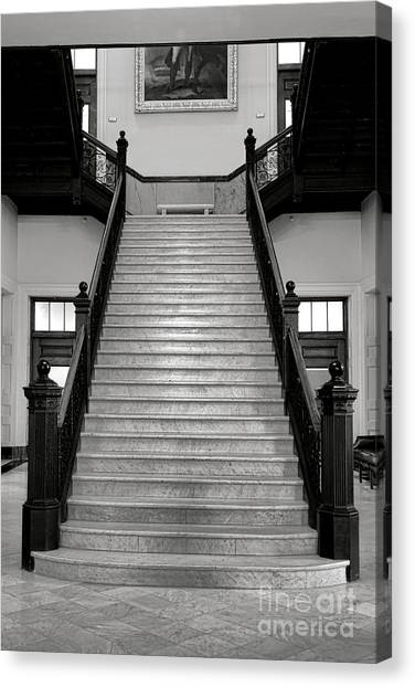 Capitol Building Canvas Print - Maine Capitol West Wing Staircase by Olivier Le Queinec