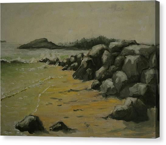 Maine Coast Usa Canvas Print by Chris  Riley