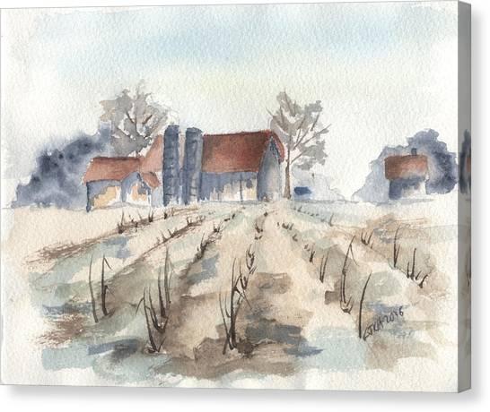 Maine Farm Canvas Print by Jan Anderson