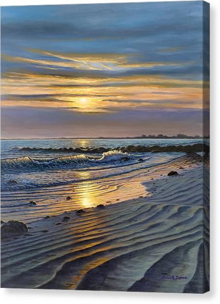 Maine Impact Canvas Print by Bruce Dumas
