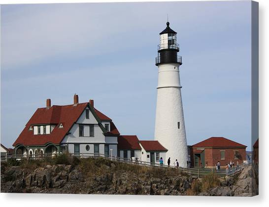 Maine Light House Canvas Print by Sue Mayor