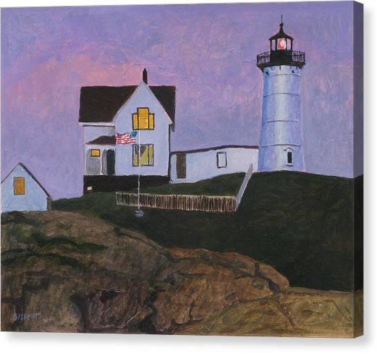 Maine Lighthouse Canvas Print by Robert Bissett
