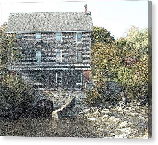 Maine Mill Canvas Print