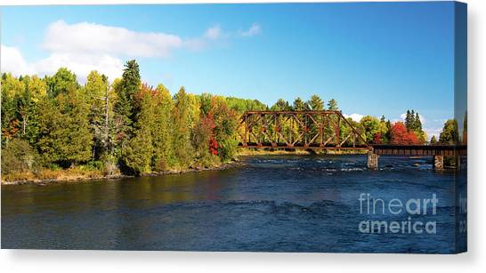 Maine Rail Line Canvas Print