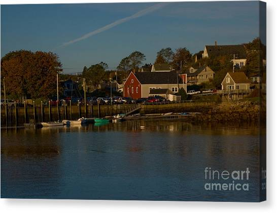 Canvas Print - Maine- Seaports In Fall by April Bielefeldt