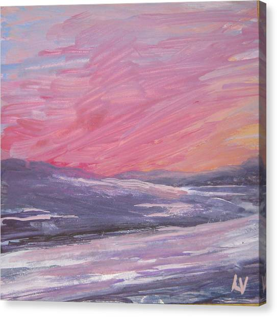 Maine Sunset Canvas Print by Lynne Vokatis