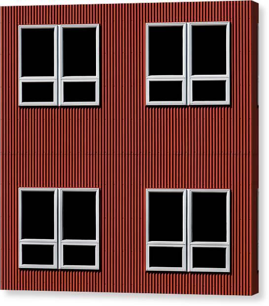 Maine Windows 3 Canvas Print