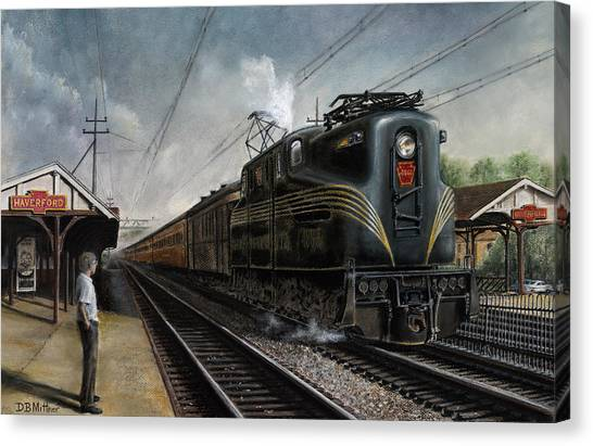 Trains Canvas Print - Mainline Memories by David Mittner