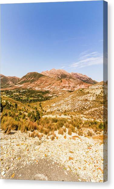 Mountain Ranges Canvas Print - Majestic Arid Peaks by Jorgo Photography - Wall Art Gallery