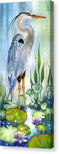 Majestic Blue Heron Canvas Print