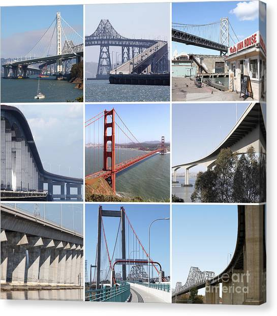 Majestic Bridges Of The San Francisco Bay Area 20150102 Canvas Print