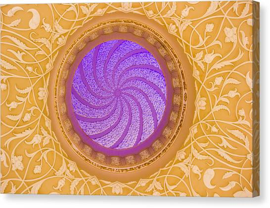 Canvas Print featuring the photograph Majestic Ceiling by Yogendra Joshi