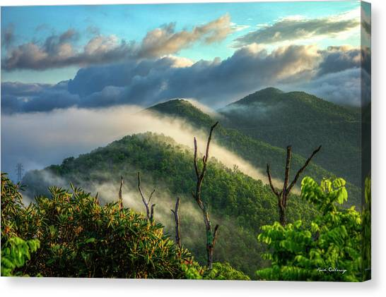 Pisgah National Forest Canvas Print - Majestic Clouds Blue Ridge Parkway Smoky Mountains Art by Reid Callaway