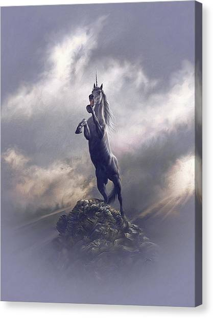 Canvas Print featuring the digital art Majestic Dignity  by Uwe Jarling