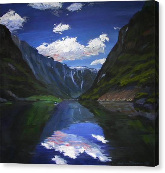 Majestic Fjords Canvas Print