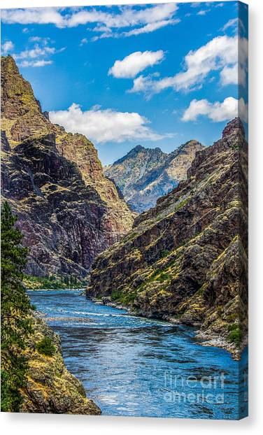 Canvas Print featuring the photograph Majestic Hells Canyon Idaho Landscape By Kaylyn Franks by Omaste Witkowski