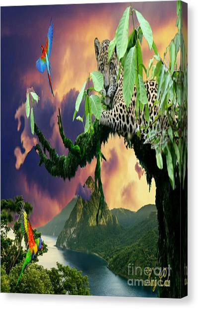 Leapords Canvas Print - Majestic Jungle by Ryan Cole