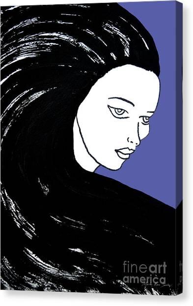 Majestic Lady J0715f J0715f Marina Blue Pastel Painting 17-4041 4f84c4 585fa8 Canvas Print