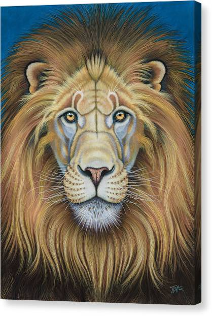The Lion's Mane Attraction Canvas Print