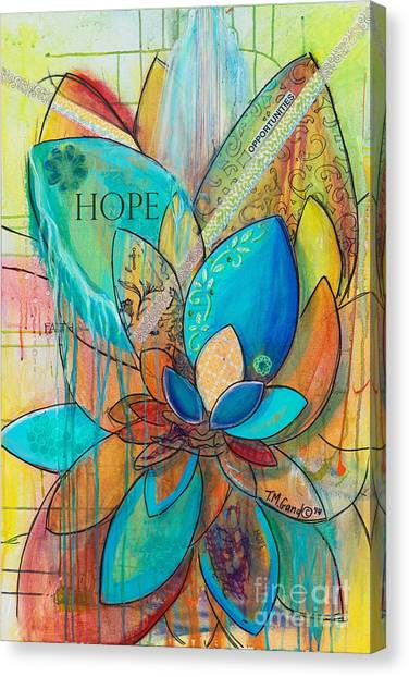 Canvas Print featuring the painting Spirit Lotus With Hope by TM Gand