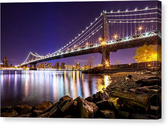 American Steel Canvas Print - Majestic Manhattan by Az Jackson