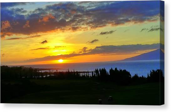 Majestic Maui Sunset Canvas Print