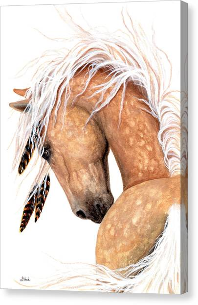 Dappled Canvas Print - Majestic Palomino #139 by AmyLyn Bihrle