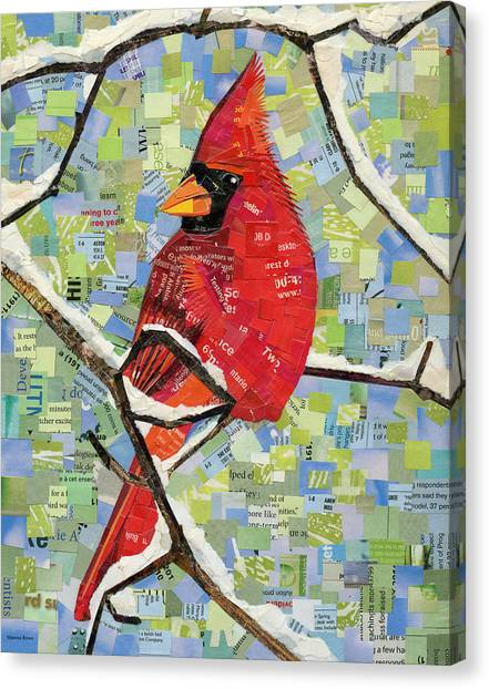 Majestic Red Cardinal  Canvas Print