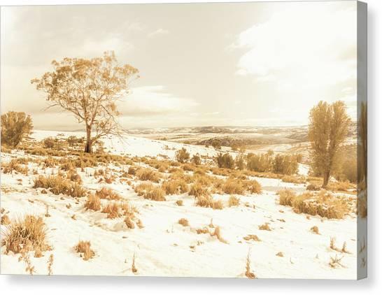 Winter Scenery Canvas Print - Majestic Scenes From Snowy Tasmania by Jorgo Photography - Wall Art Gallery