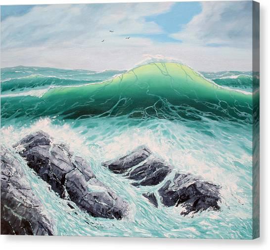 Majestic Sea Canvas Print by Lorraine Foster