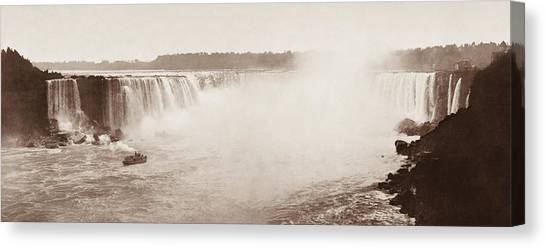 Horseshoe Falls Canvas Print - Majestic Shot Of The Horseshoe Falls - 1899 by War Is Hell Store