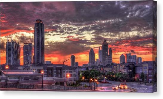 Emory University Canvas Print - Majestic Sunrise Midtown Atlanta by Reid Callaway