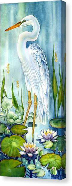 Majestic White Heron Canvas Print