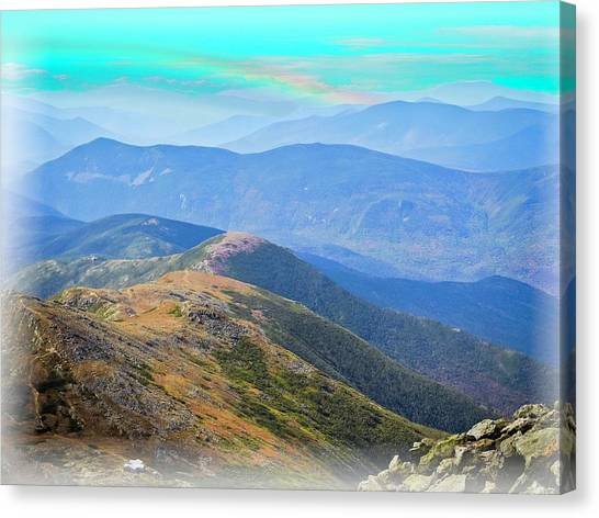 Majestic White Mountains Canvas Print