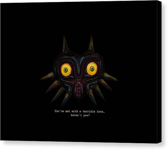Super Mario Canvas Print - Majoras Mask by Ana Djurkovic