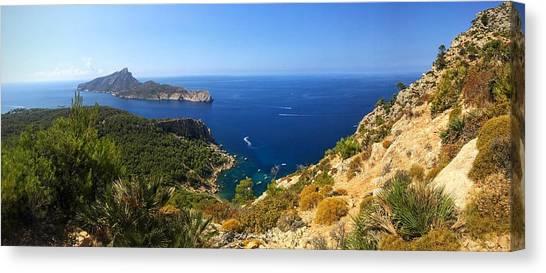 Spain Canvas Print - Majorca Spain Panorama by Matthias Hauser