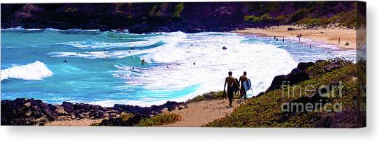 Panorama - Makapu'u Beach Park, Oahu, Hawaii  Canvas Print